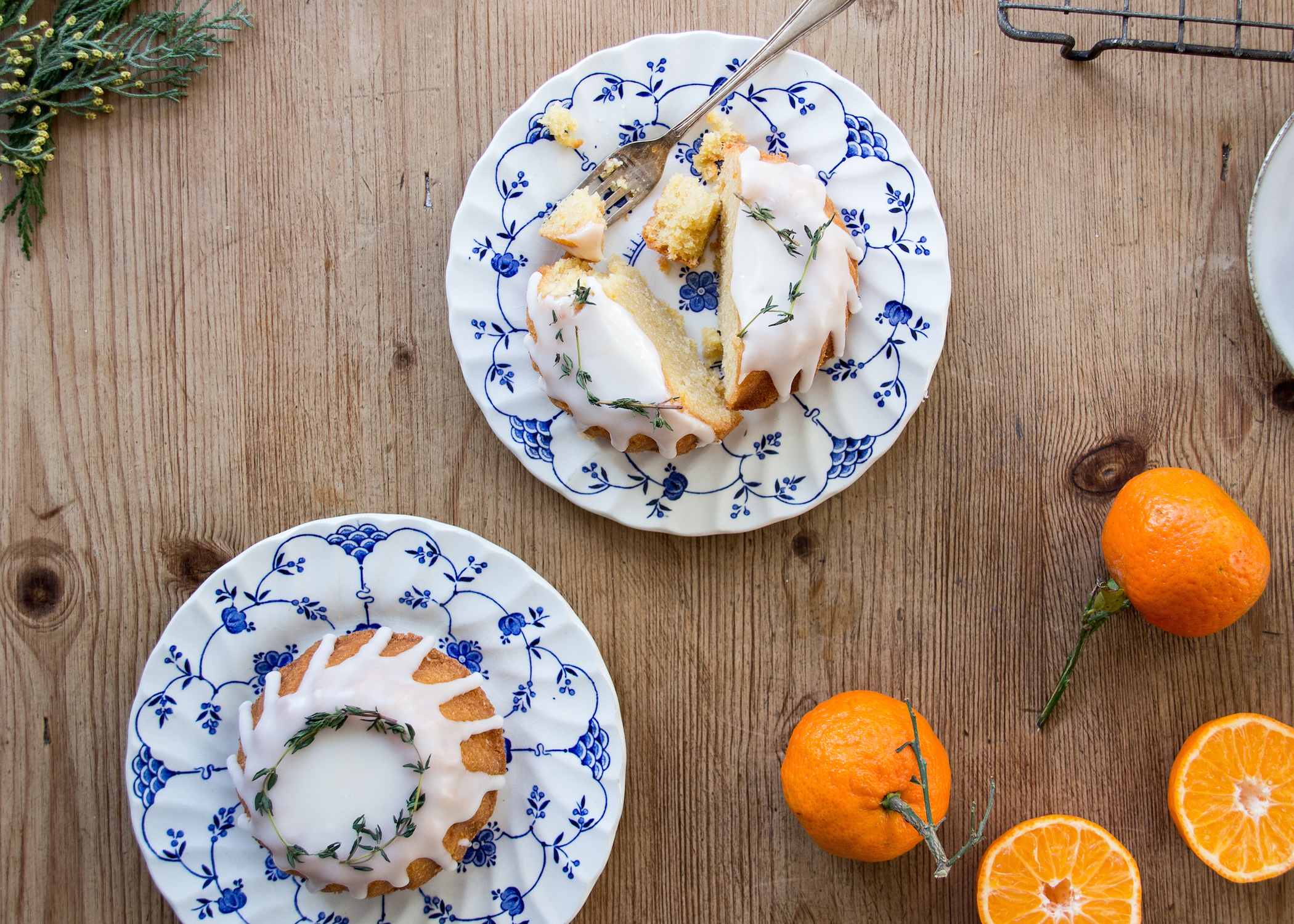 Low FODMAP Clementine and almond mini bundt cakes