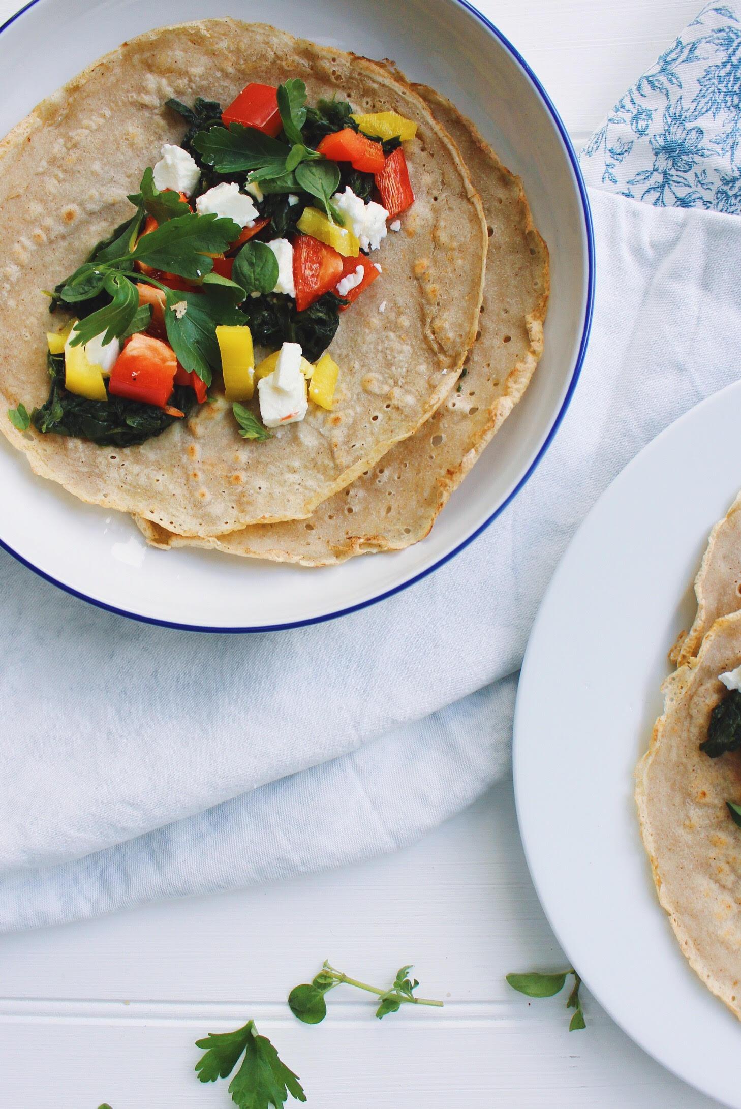 Low FODMAP recipe buckwheat crepes