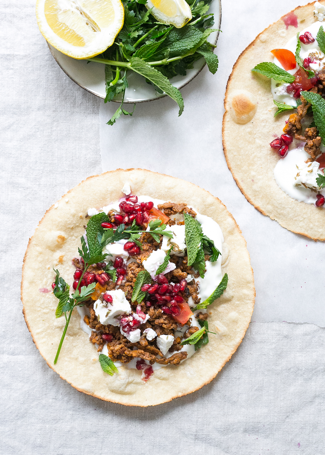 Low FODMAP Spiced lamb flatbreads