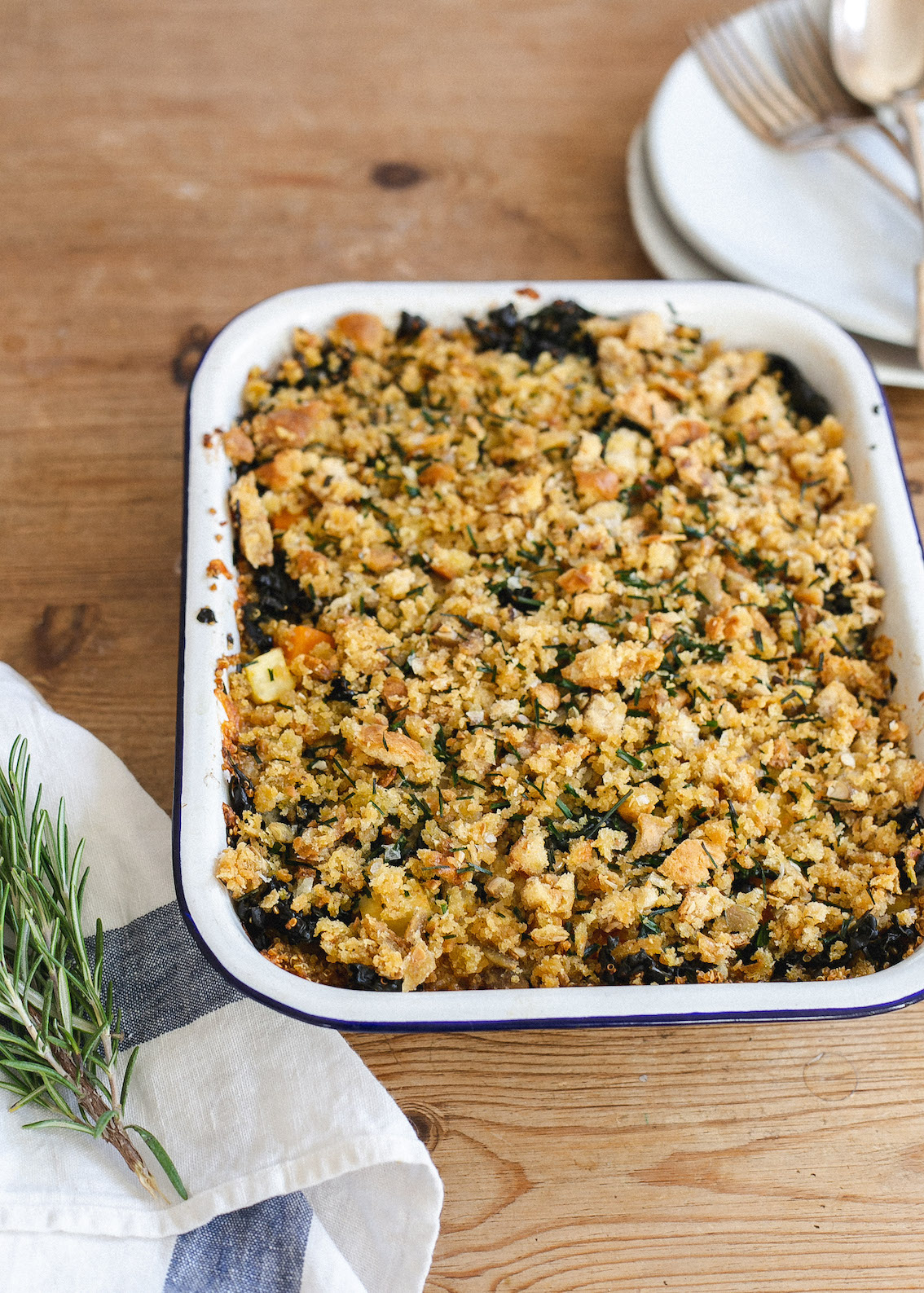 FODMAP friendly Autumn quinoa and vegetable bake