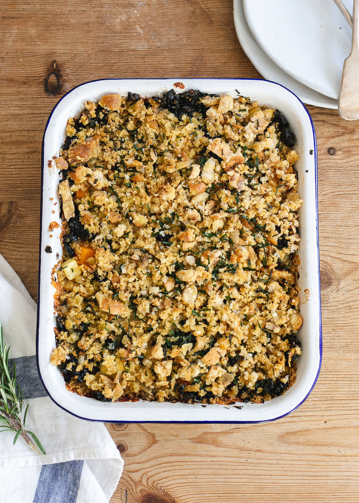 Low FODMAP Autumn quinoa and vegetable bake