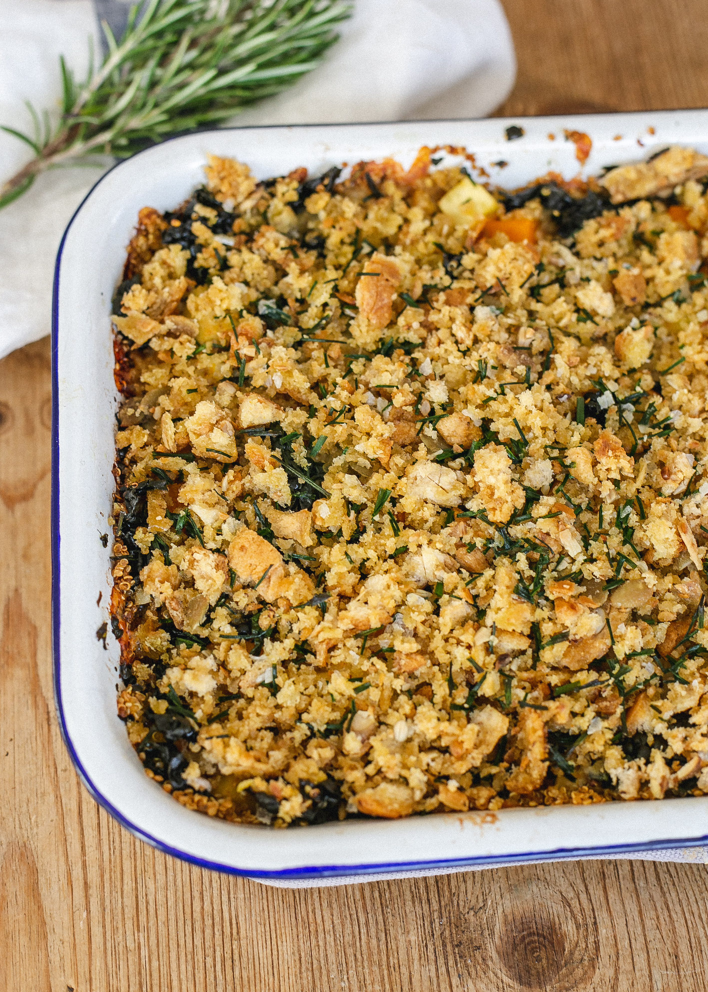 Gluten free autumn quinoa and vegetable bake