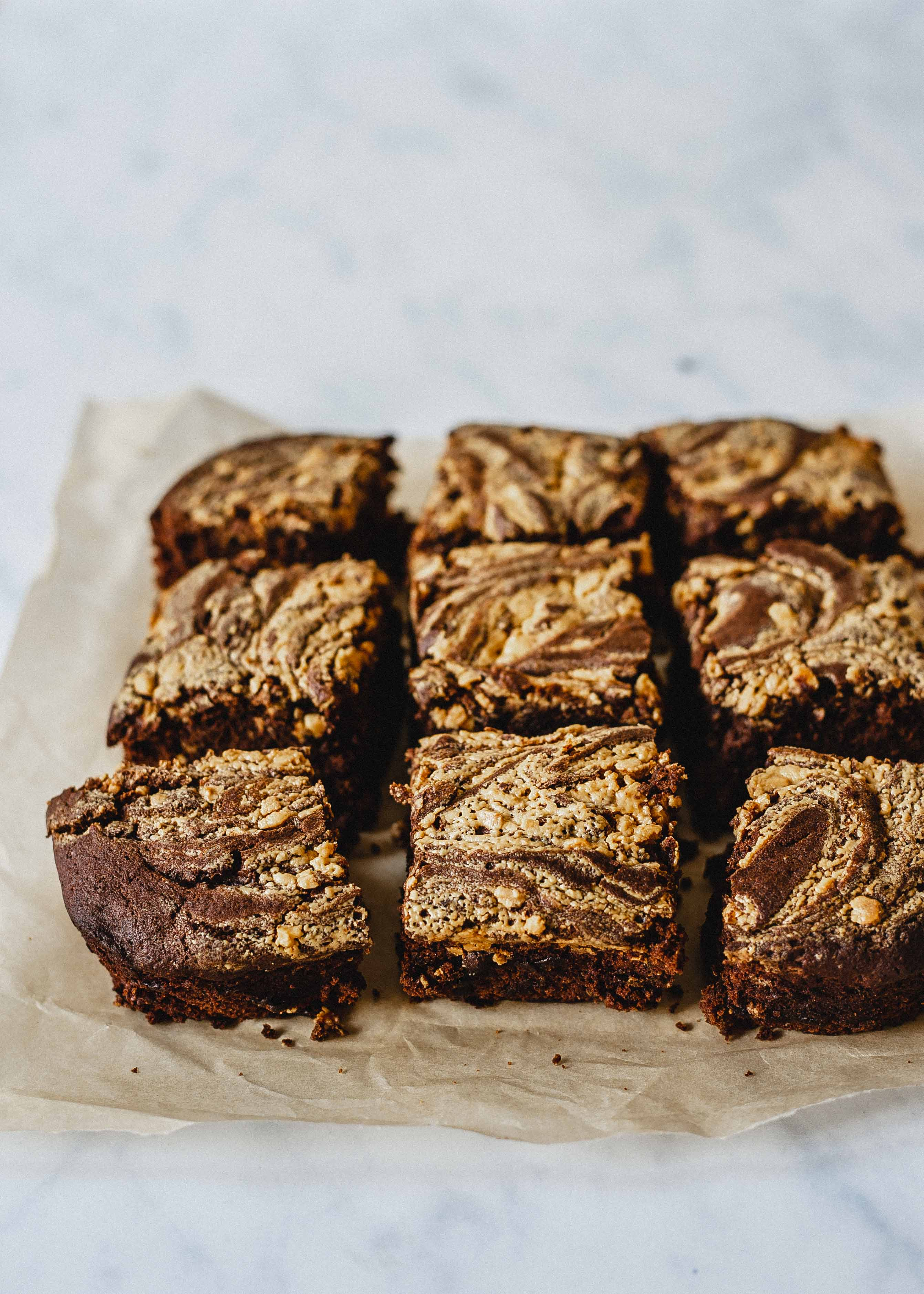 Gluten free Low FODMAP peanut butter brownies