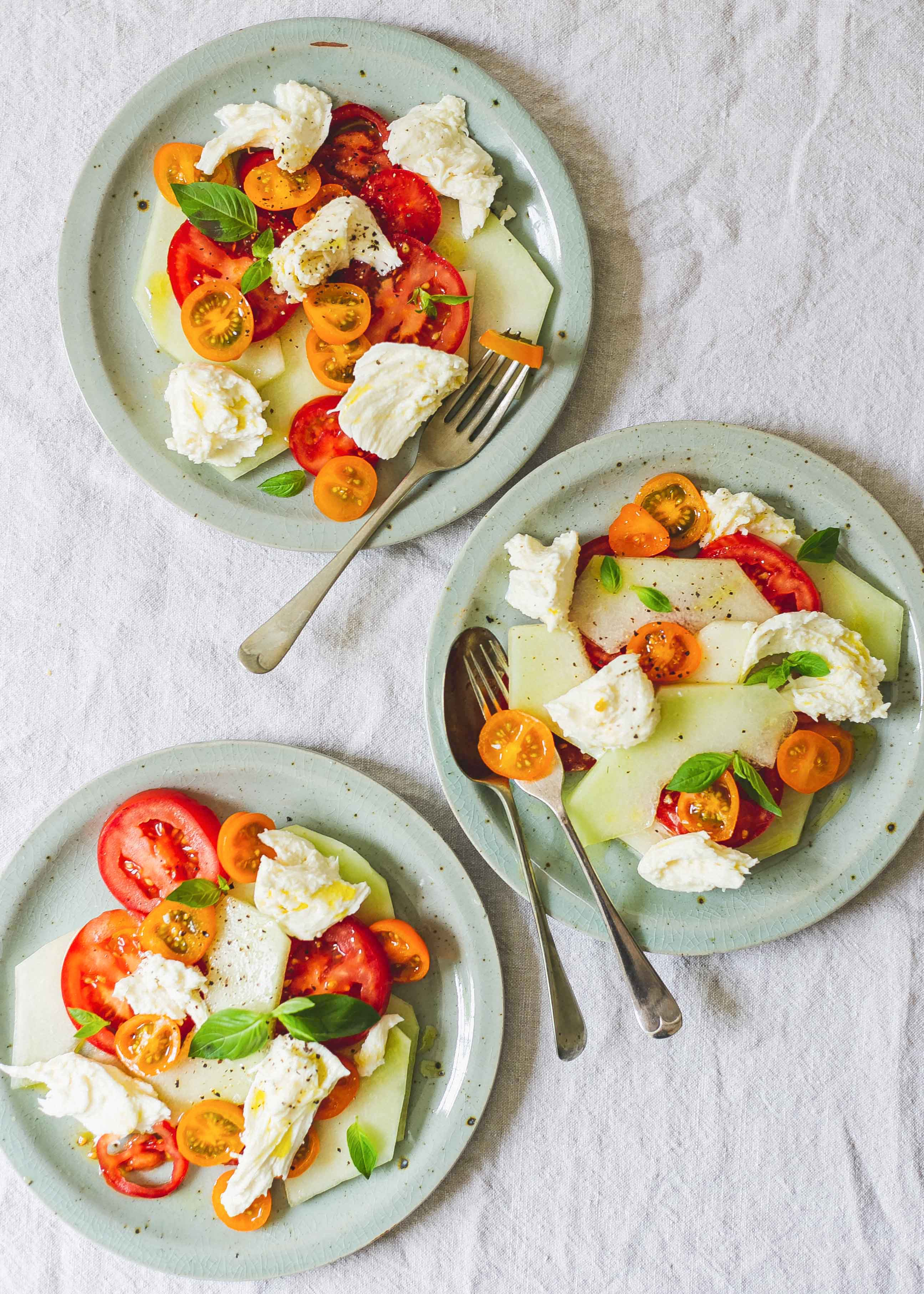 Tomato and melon salad low FODMAP