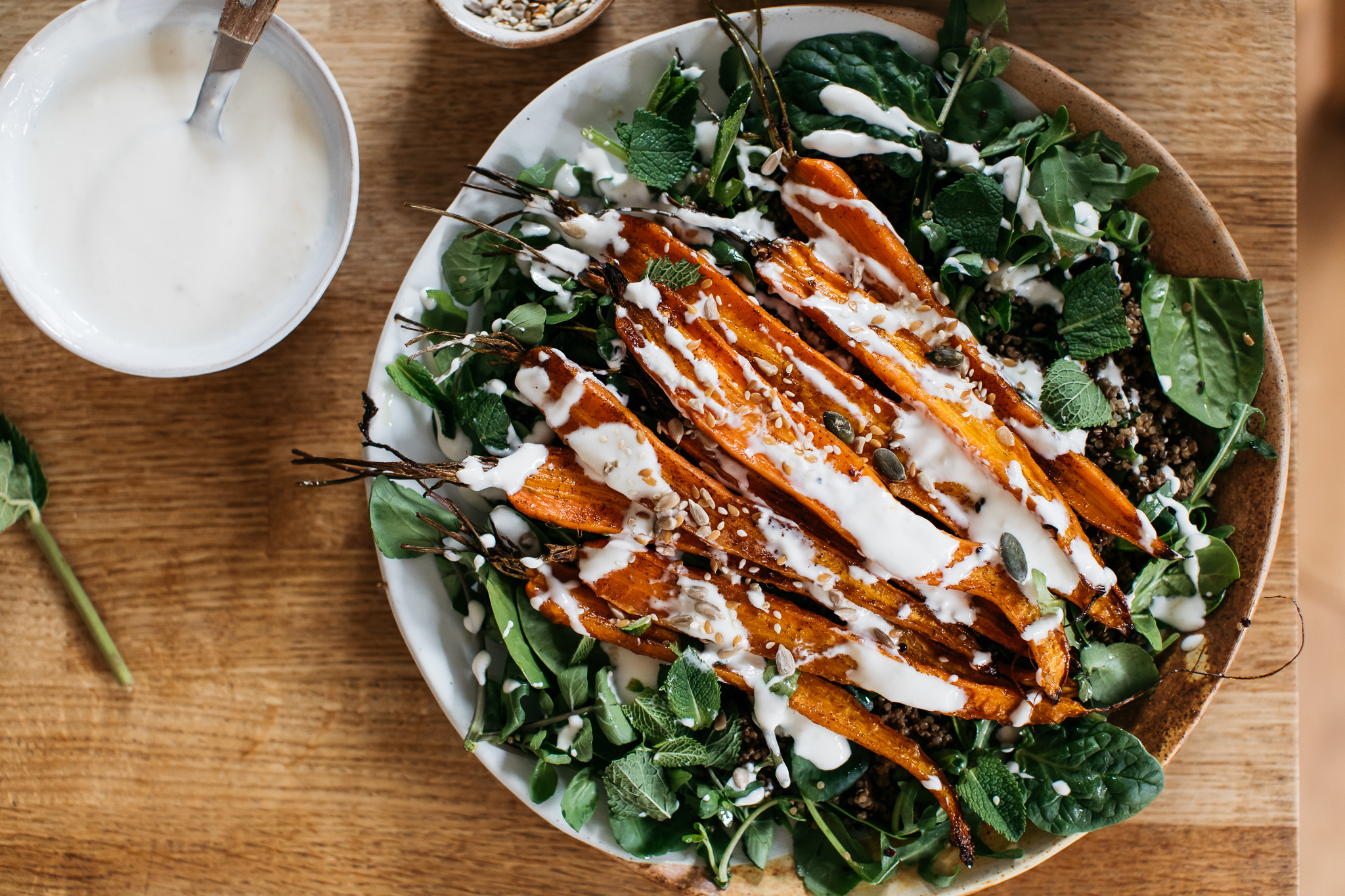 Low FODMAP roasted carrot salad