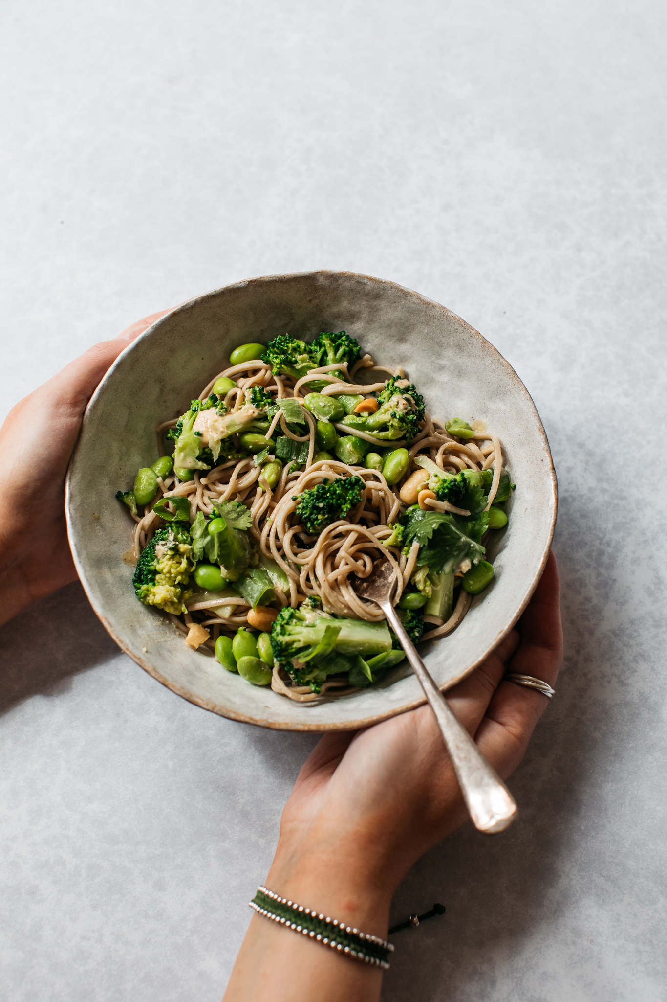 Low FODMAP soba noodle salad