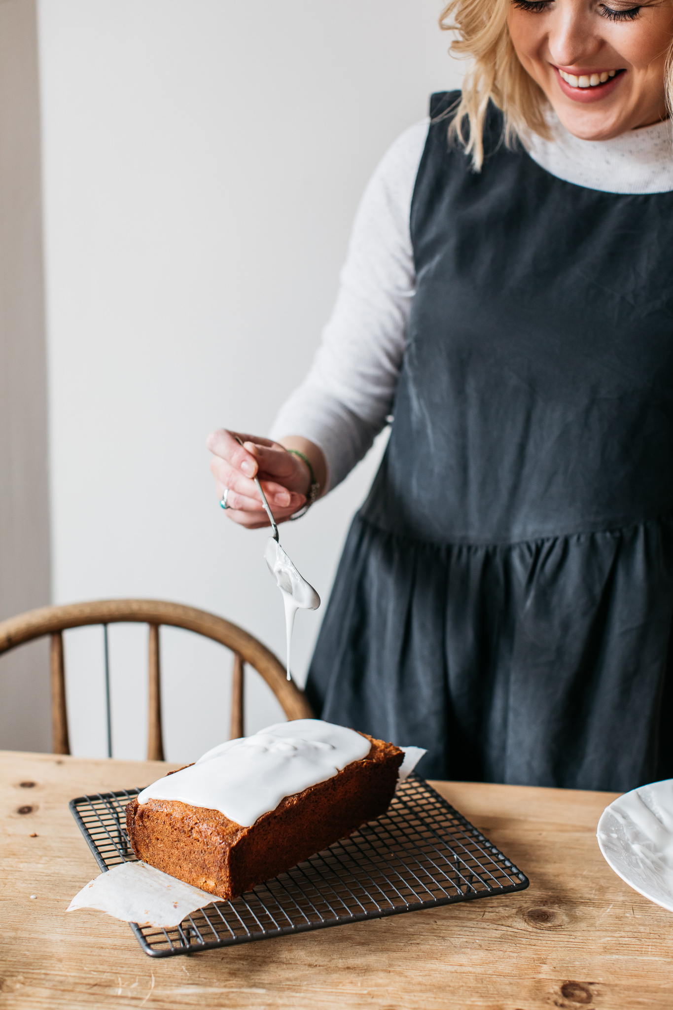 Drippy icing grapefruit and poppy seed loaf cake