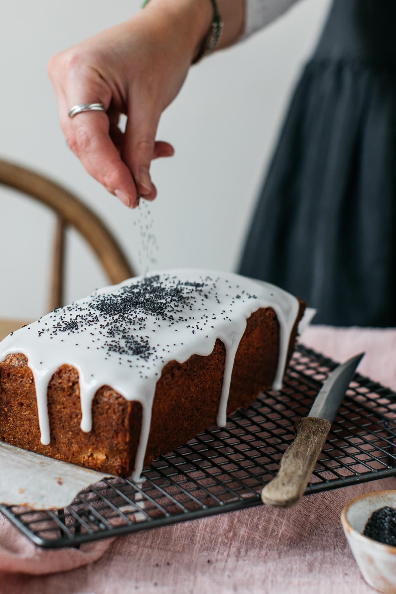 Poppy seed and grapefruit gluten free loaf cake