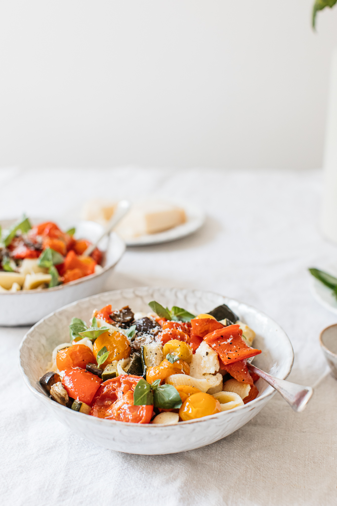 Roasted summer veg pasta low FODMAP