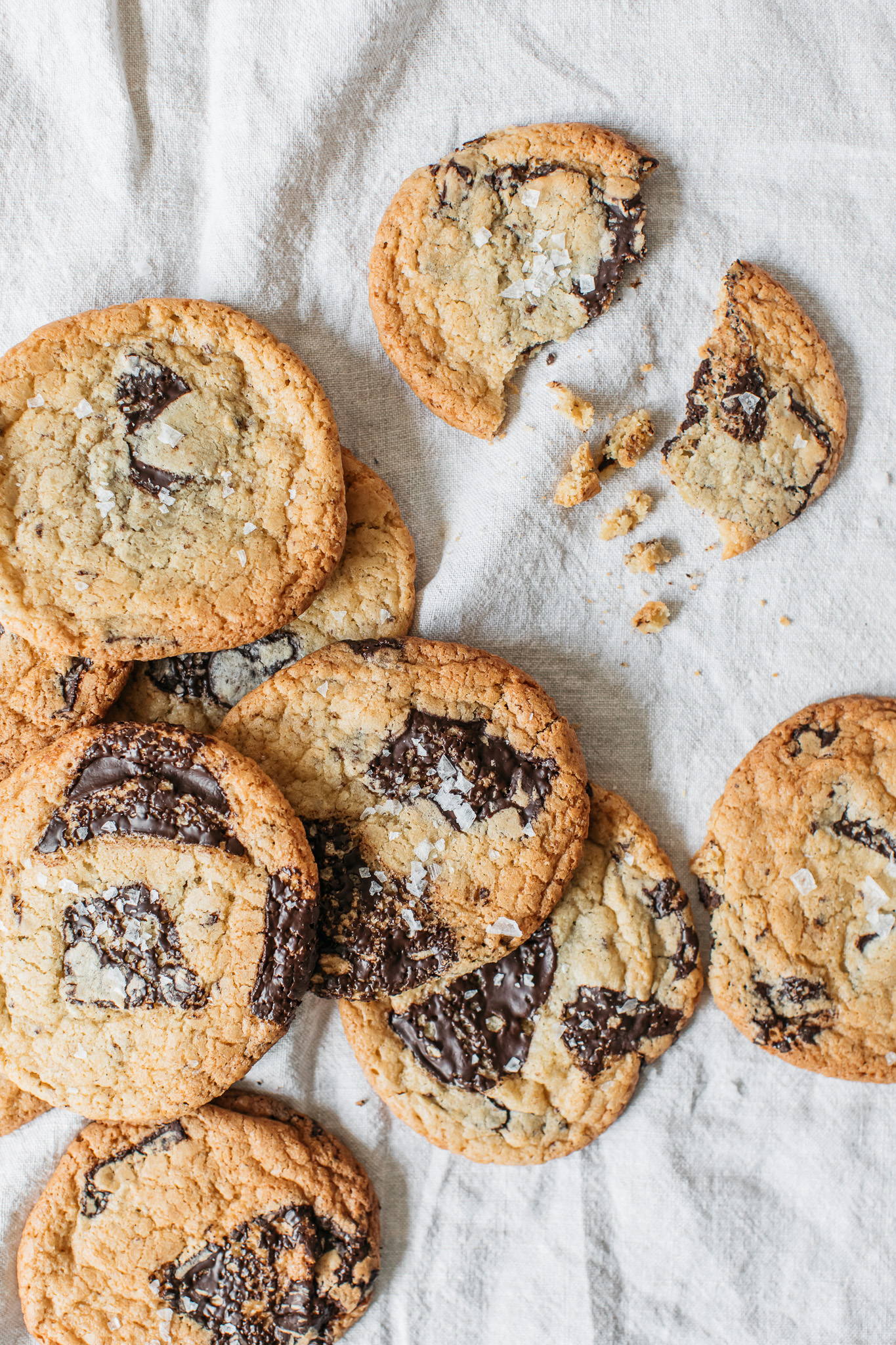 Low FODMAP miso cookies with flaky salt