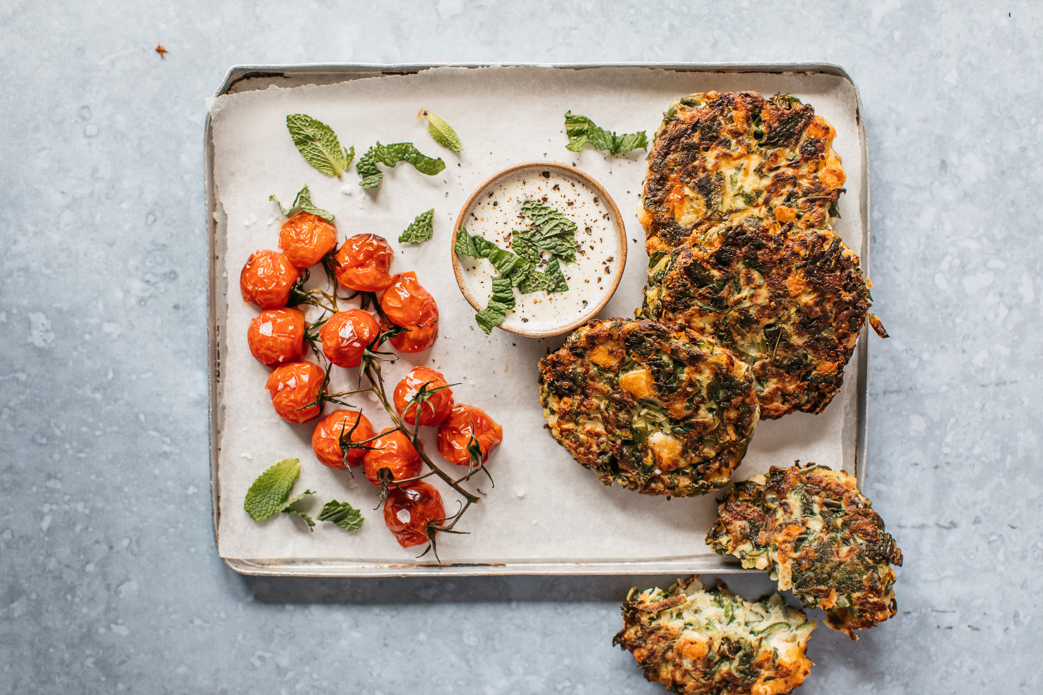 Low FODMAP courgette fritters