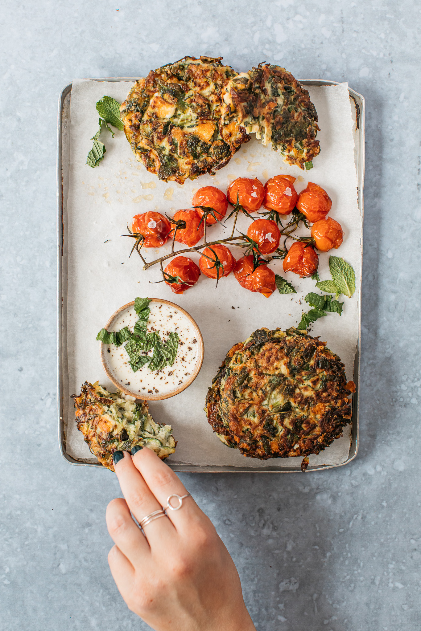 FODMAP friendly courgette fritters