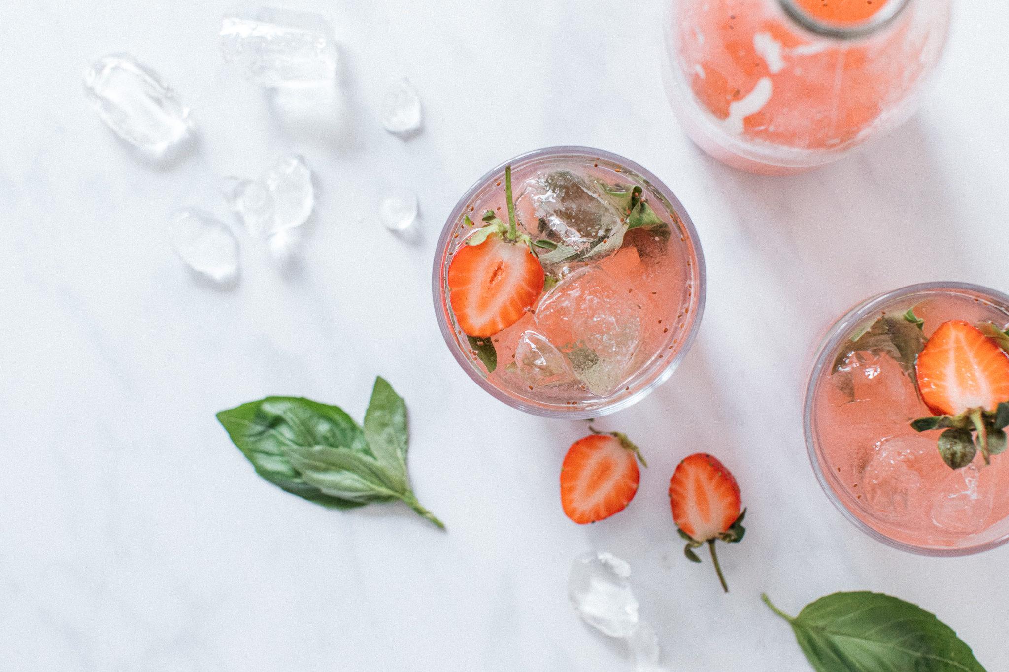 Low FODMAP strawberry and basil drink