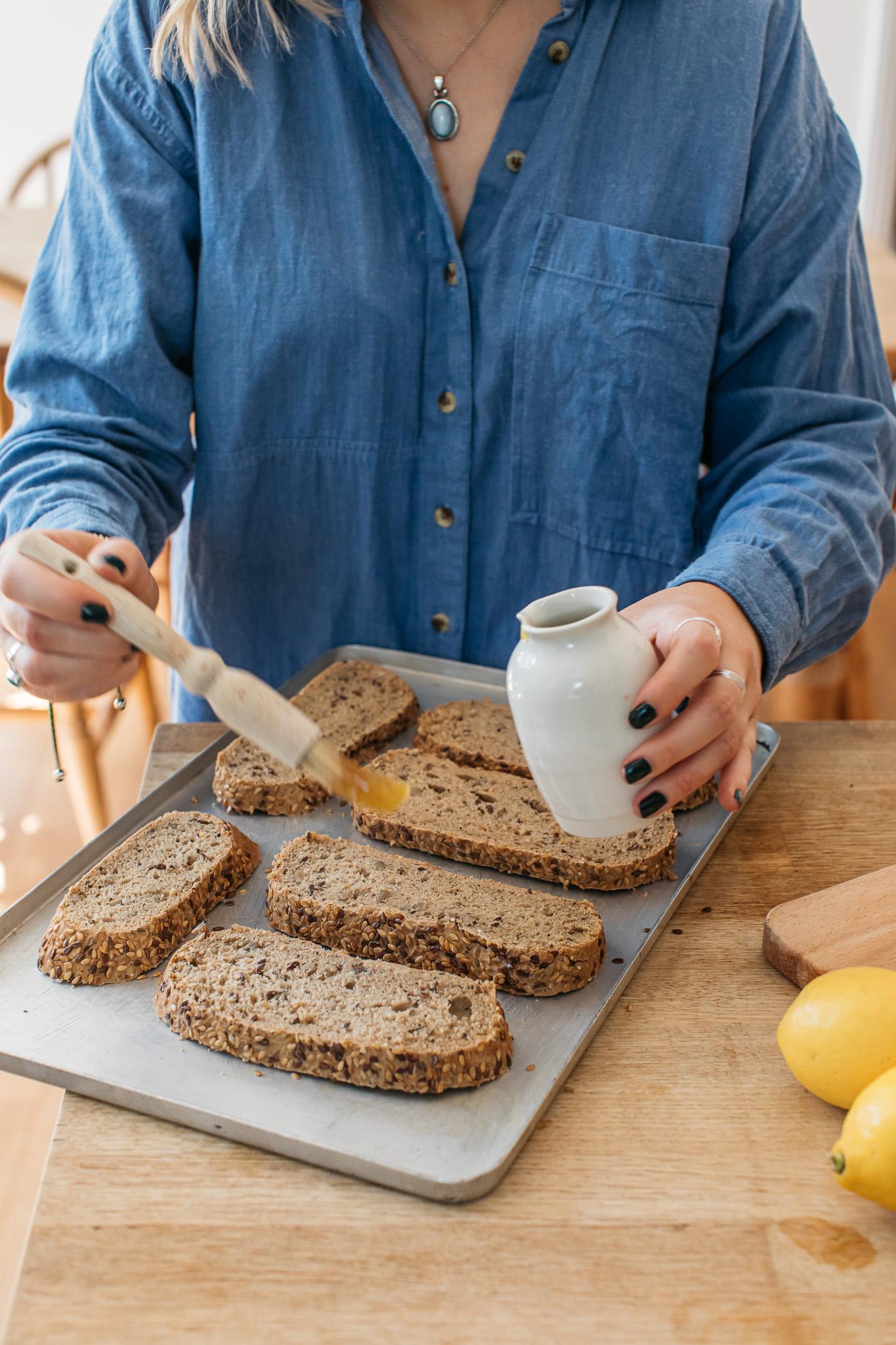 Garlic oil gluten free bread