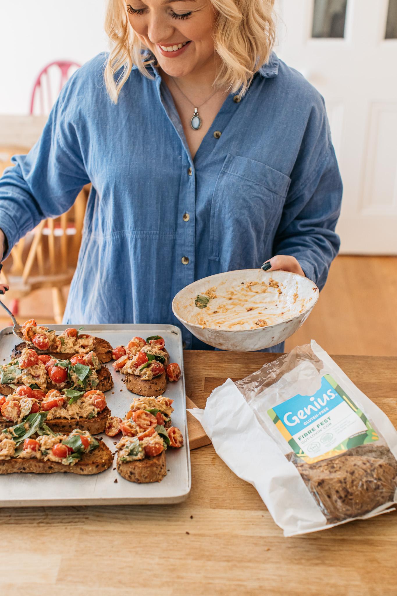 Gluten free crab bruschetta