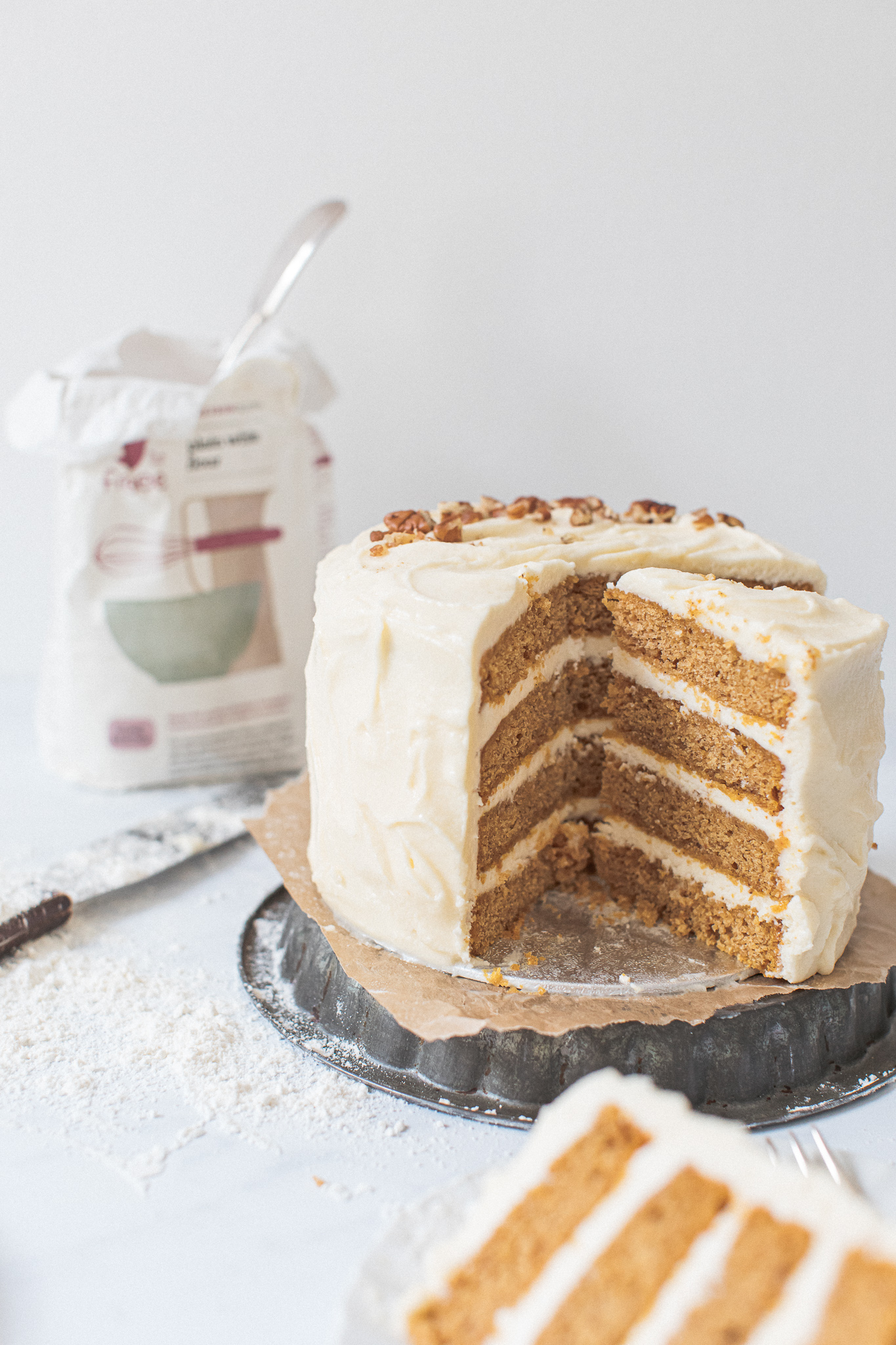 Gluten free pumpkin layer cake