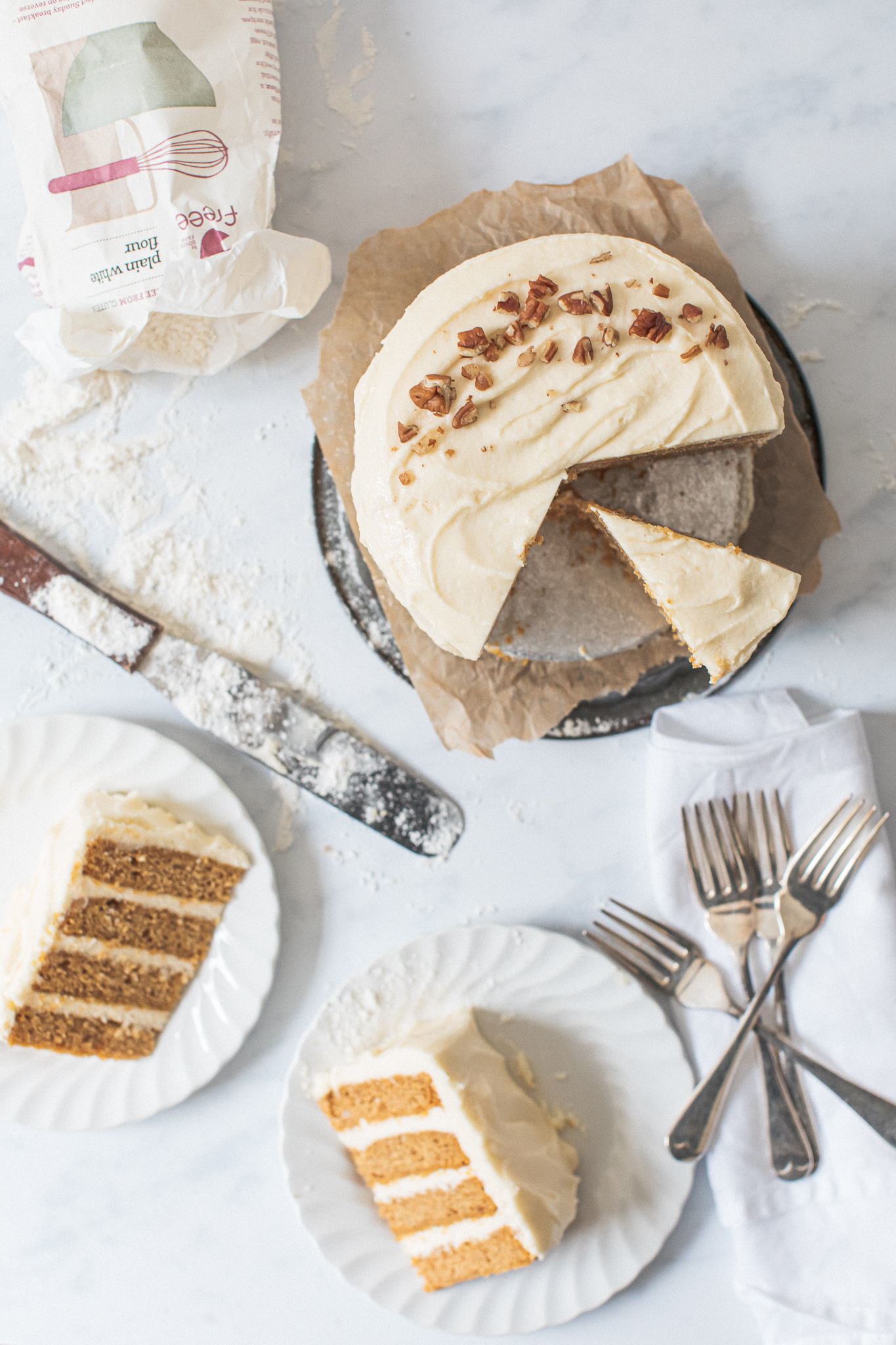 Gluten free low FODMAP pumpkin layer cake