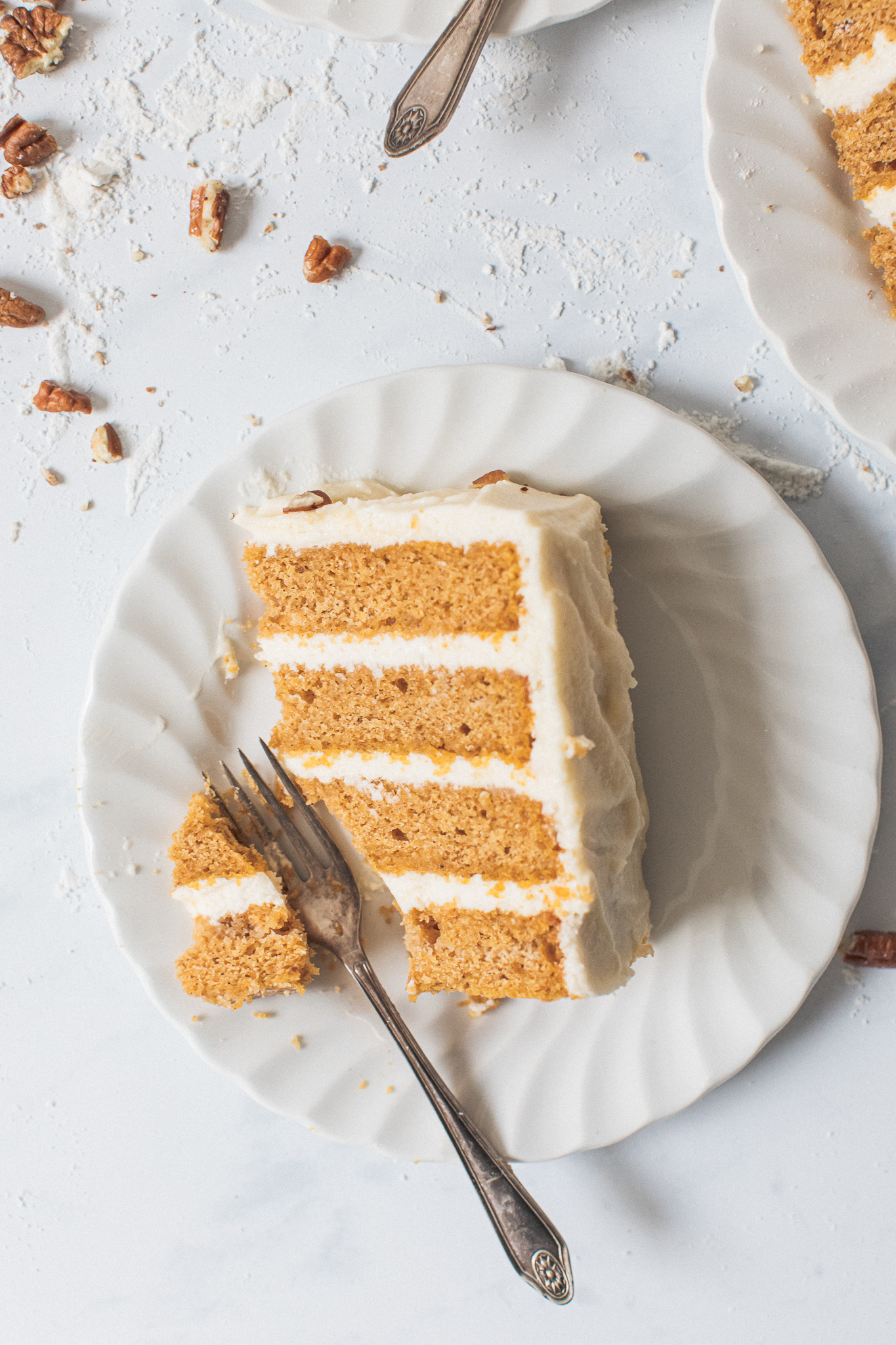 Low FODMAP pumpkin layer cake slice