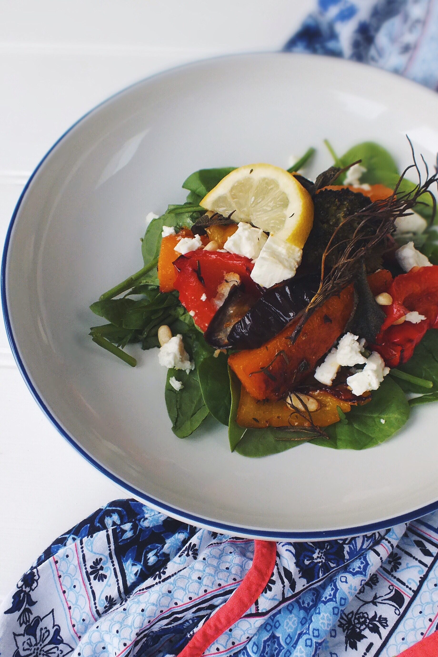 Oven roasted vegetables with feta and pine nuts low fodmap she cant eat what?!