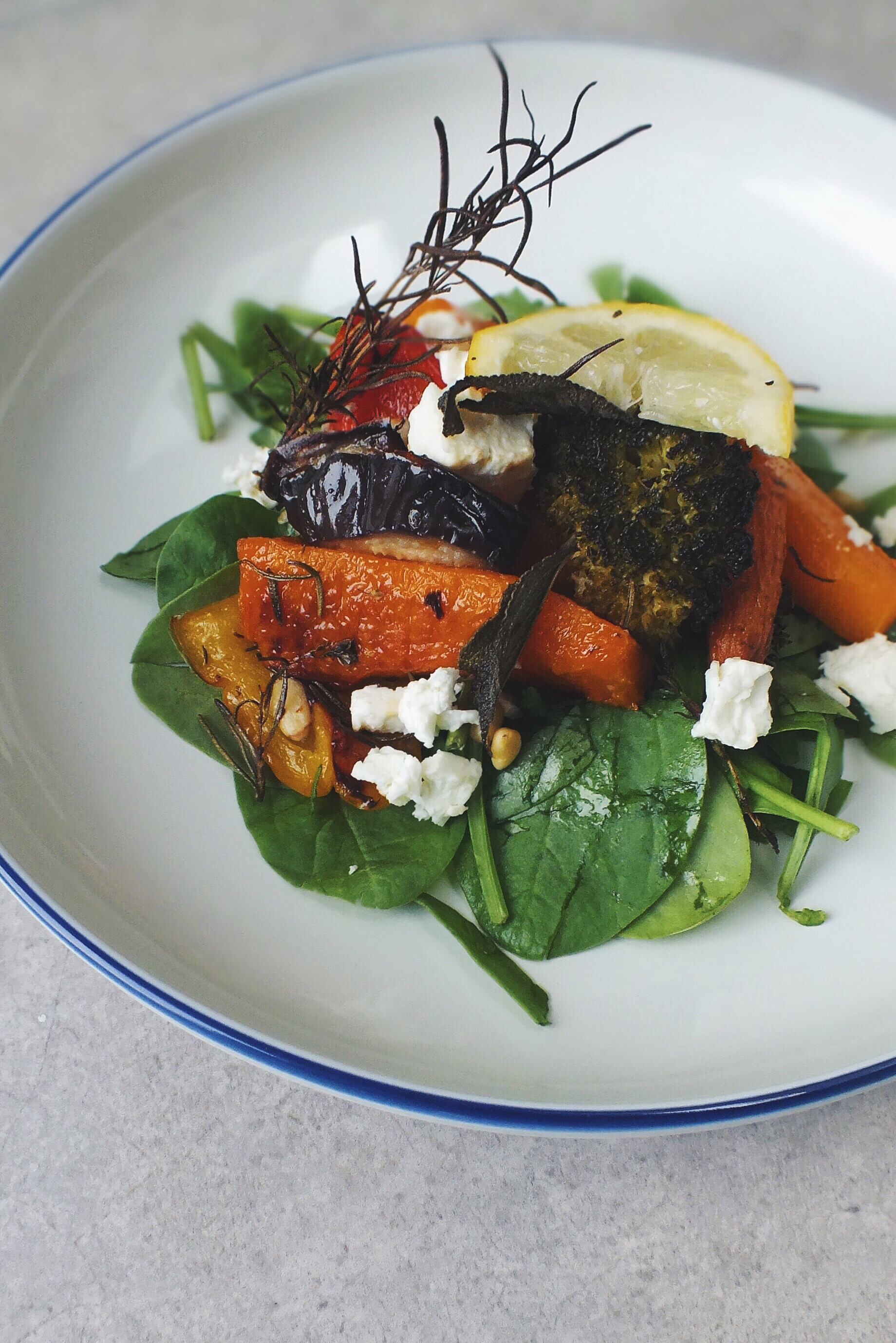Low fodmap roasted vegetables with feta she can't eat what?!