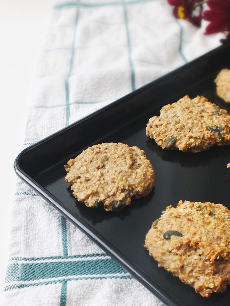 Nut butter pumpkin seed low FODMAP oat cookies