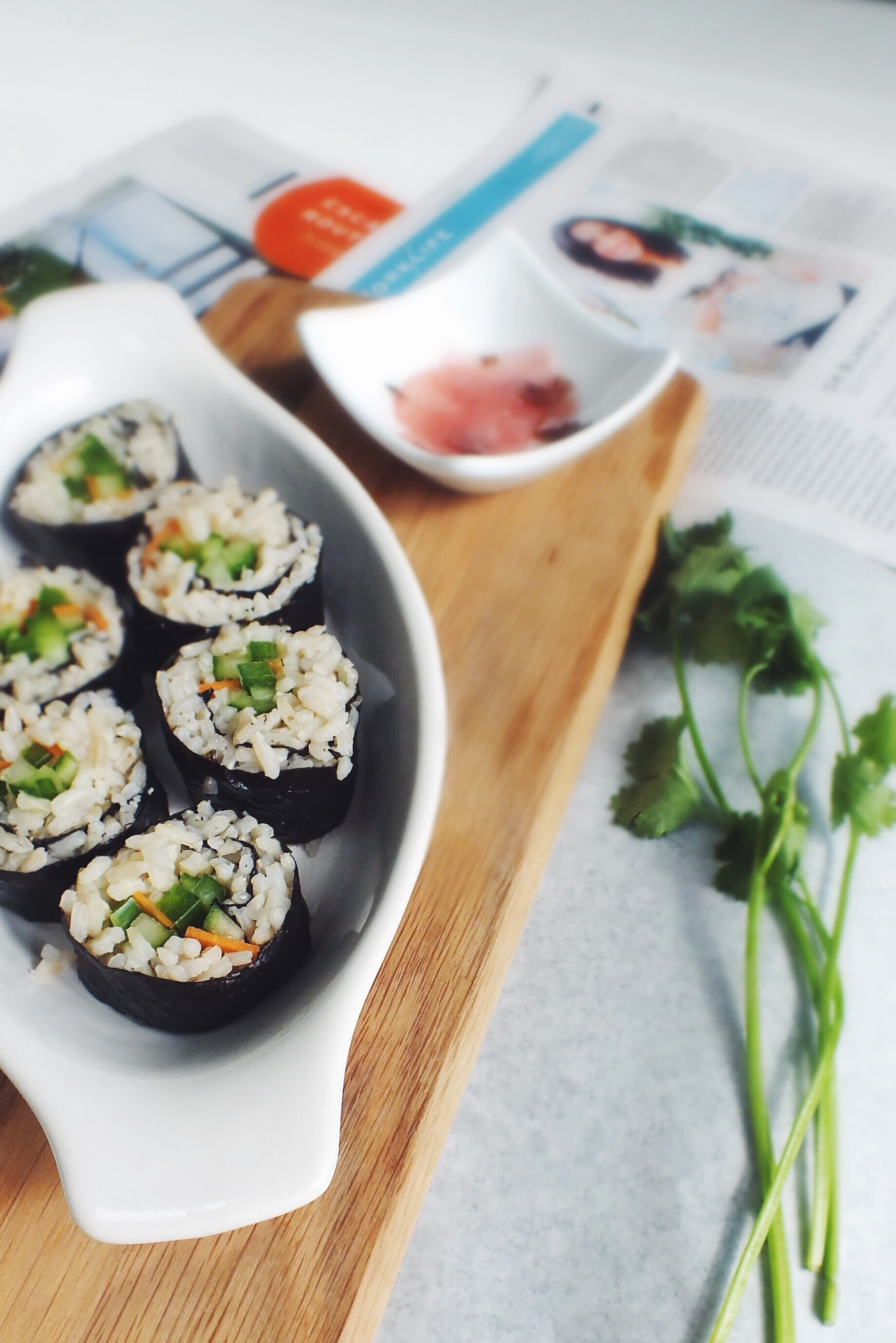 Veggie low FODMAP sushi