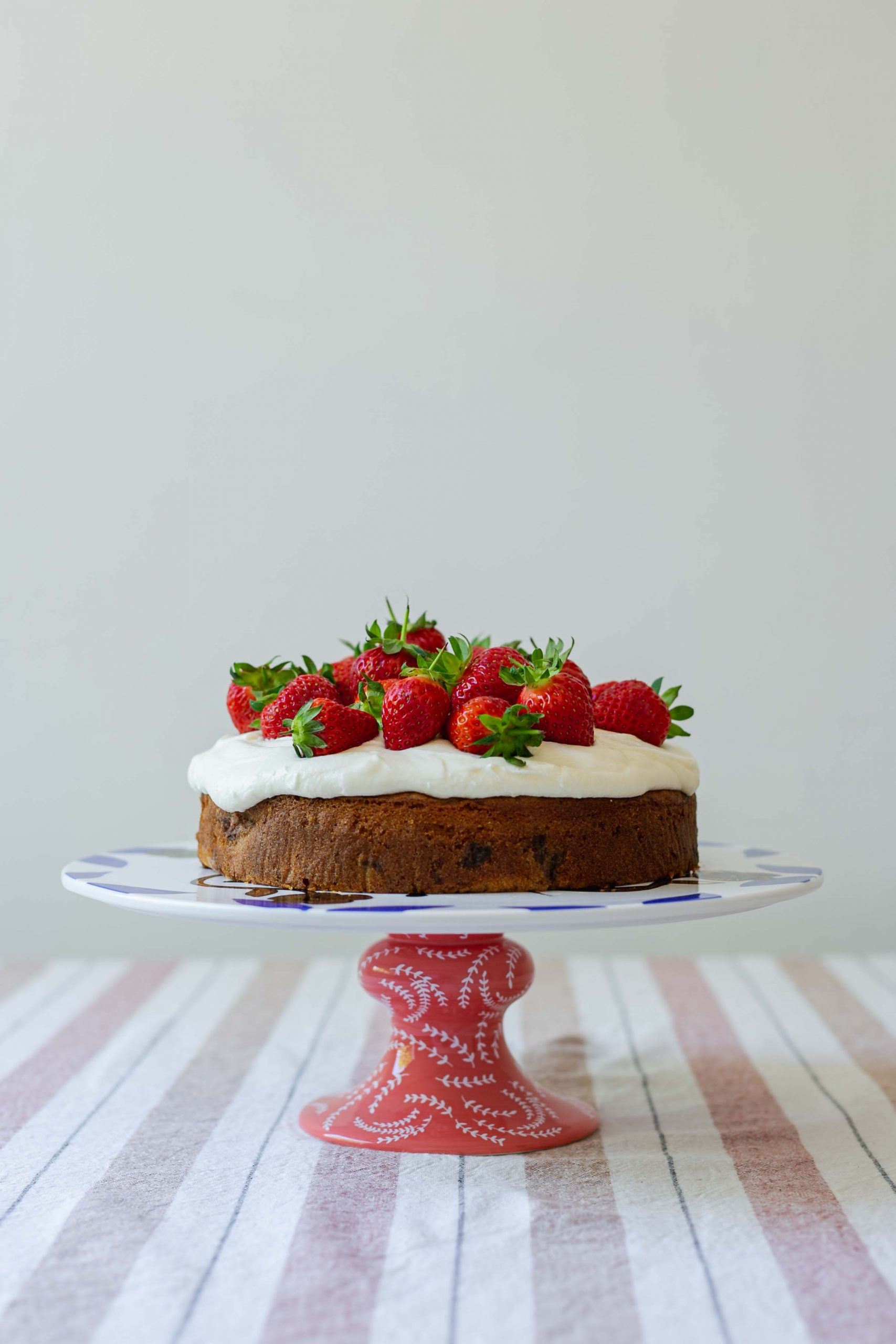 Roasted strawberry low FODMAP cake
