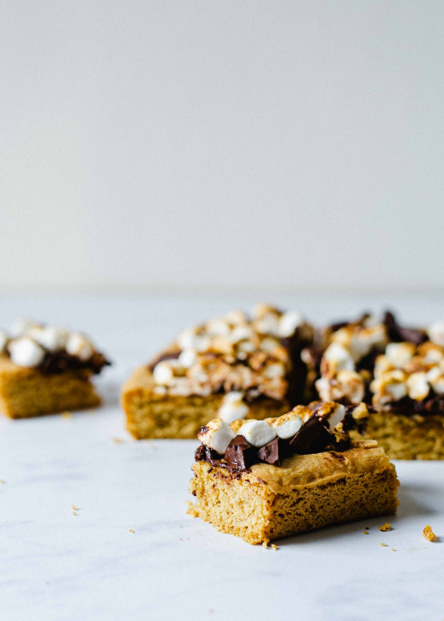 FODMAP friendly s'mores bars