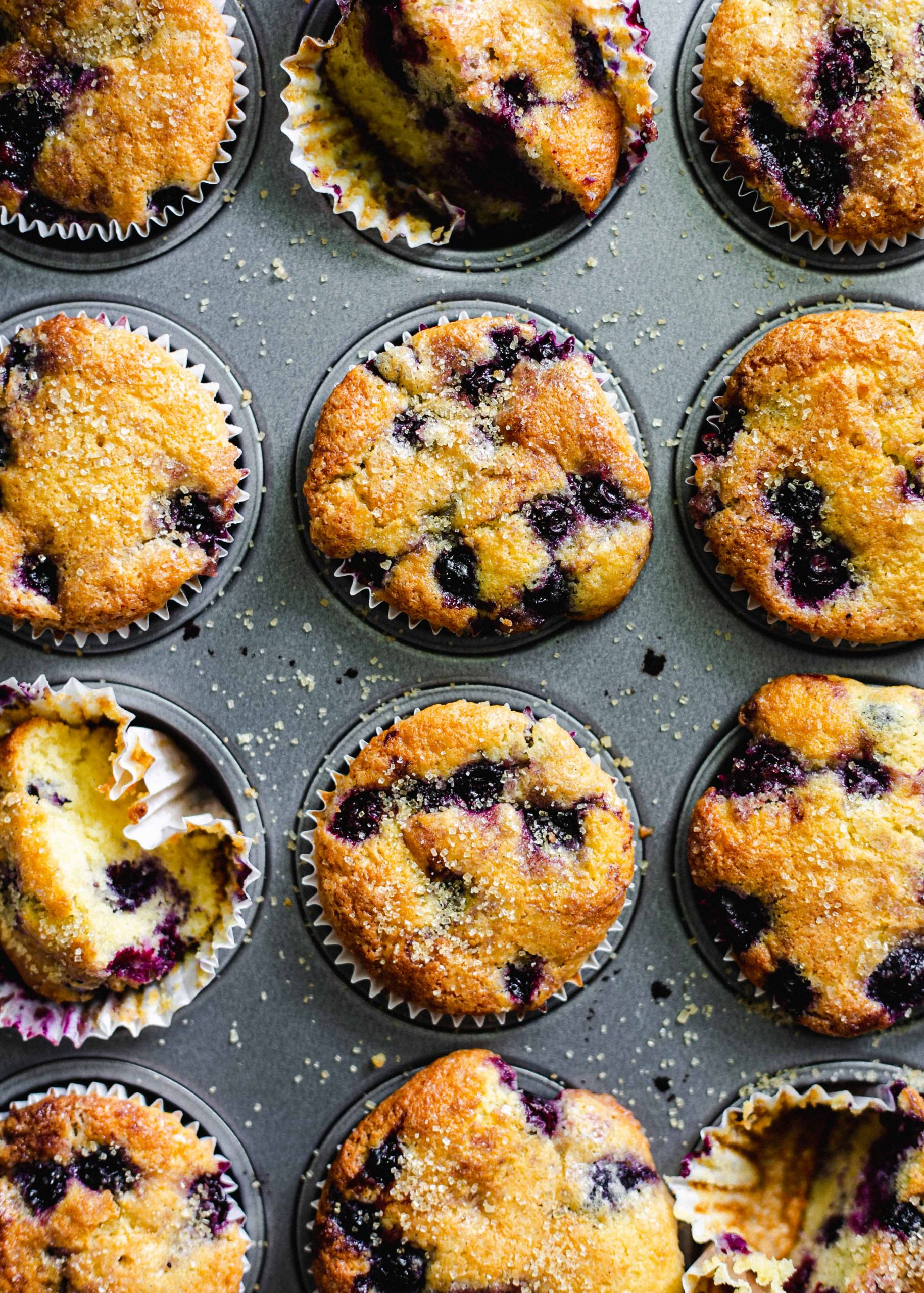 Gluten free and low FODMAP blueberry and corn muffins