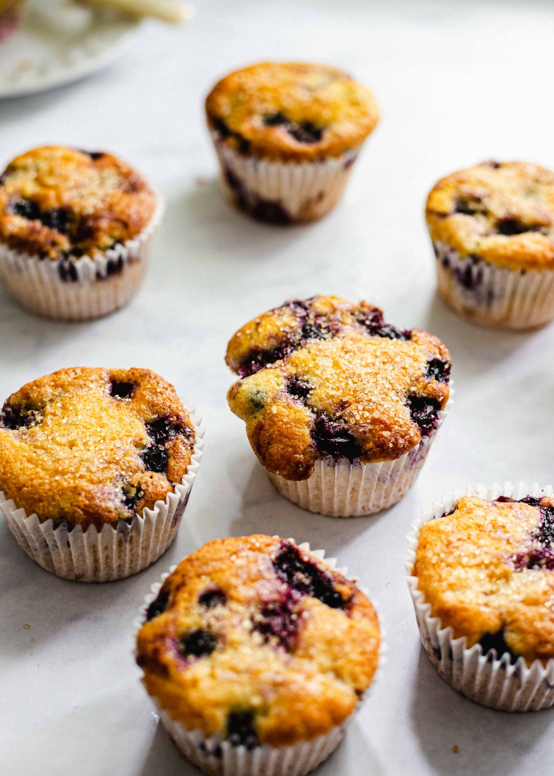 Gluten free and low FODMAP blueberry muffins