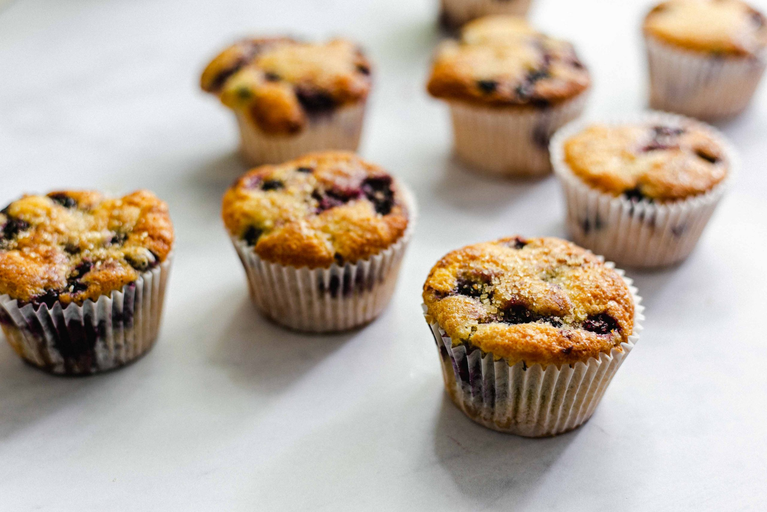 Low FODMAP blueberry and corn muffins