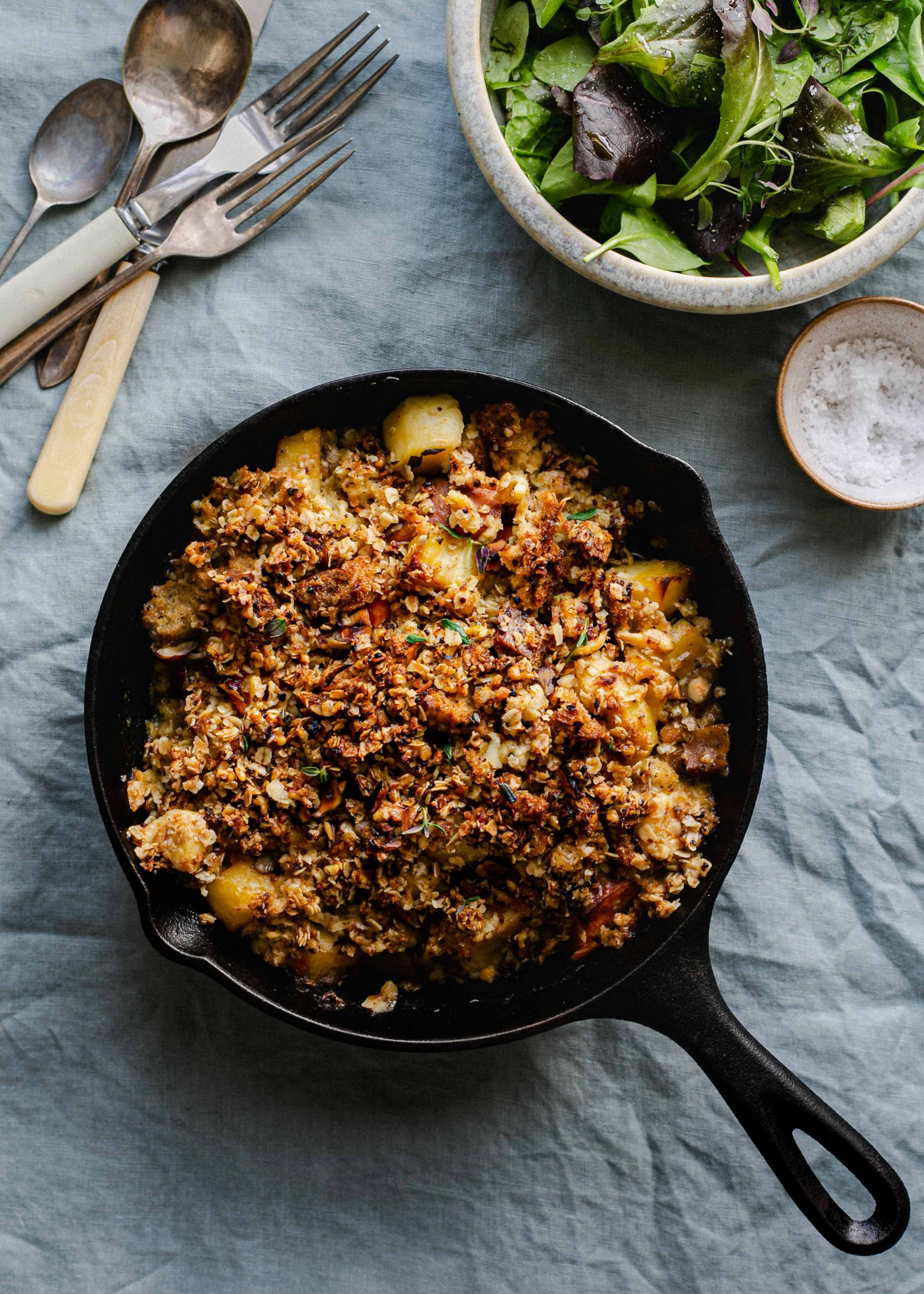 Low FODMAP savoury crumble