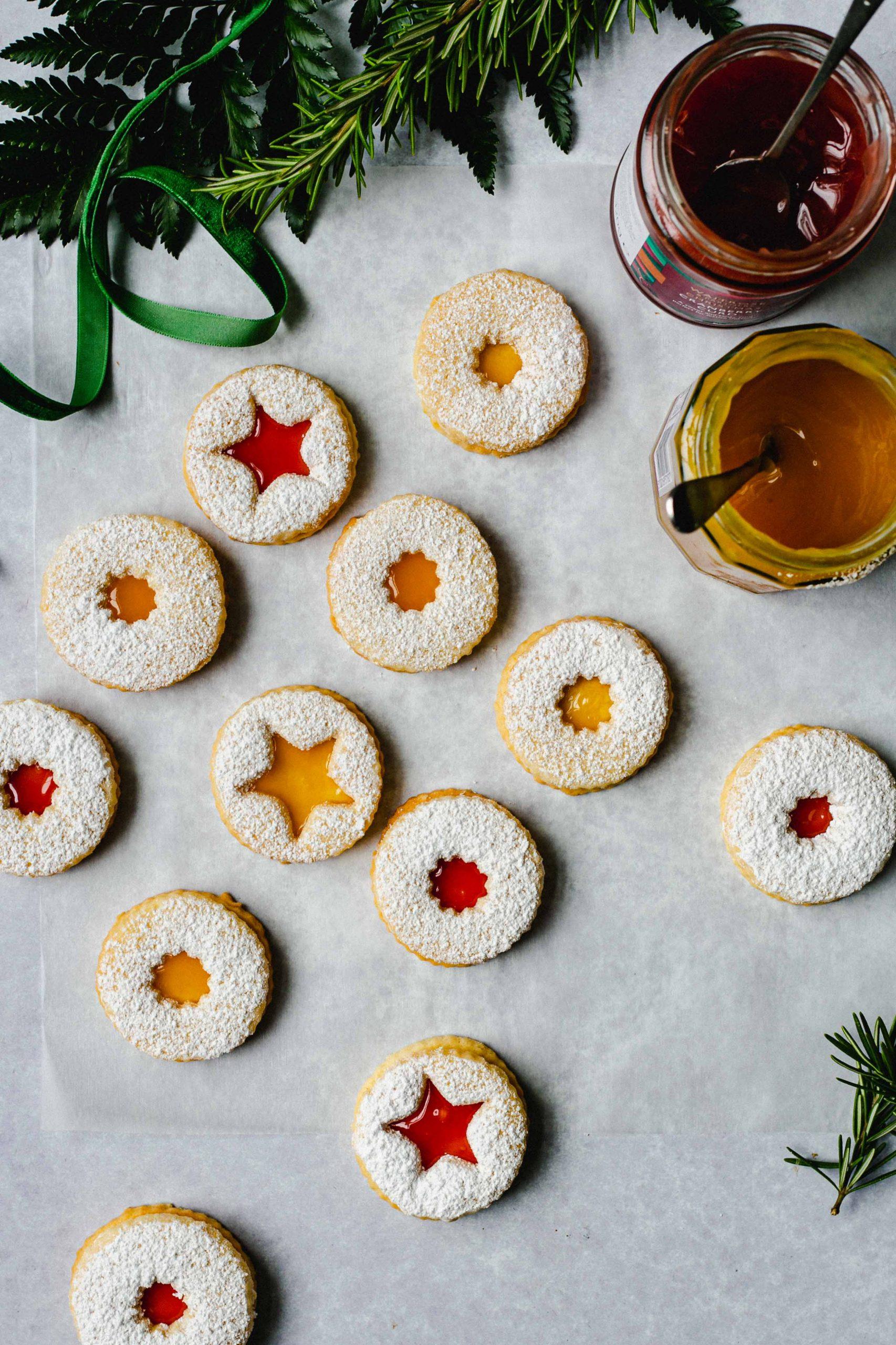 Gluten free Linzer cookies Low FODMAP