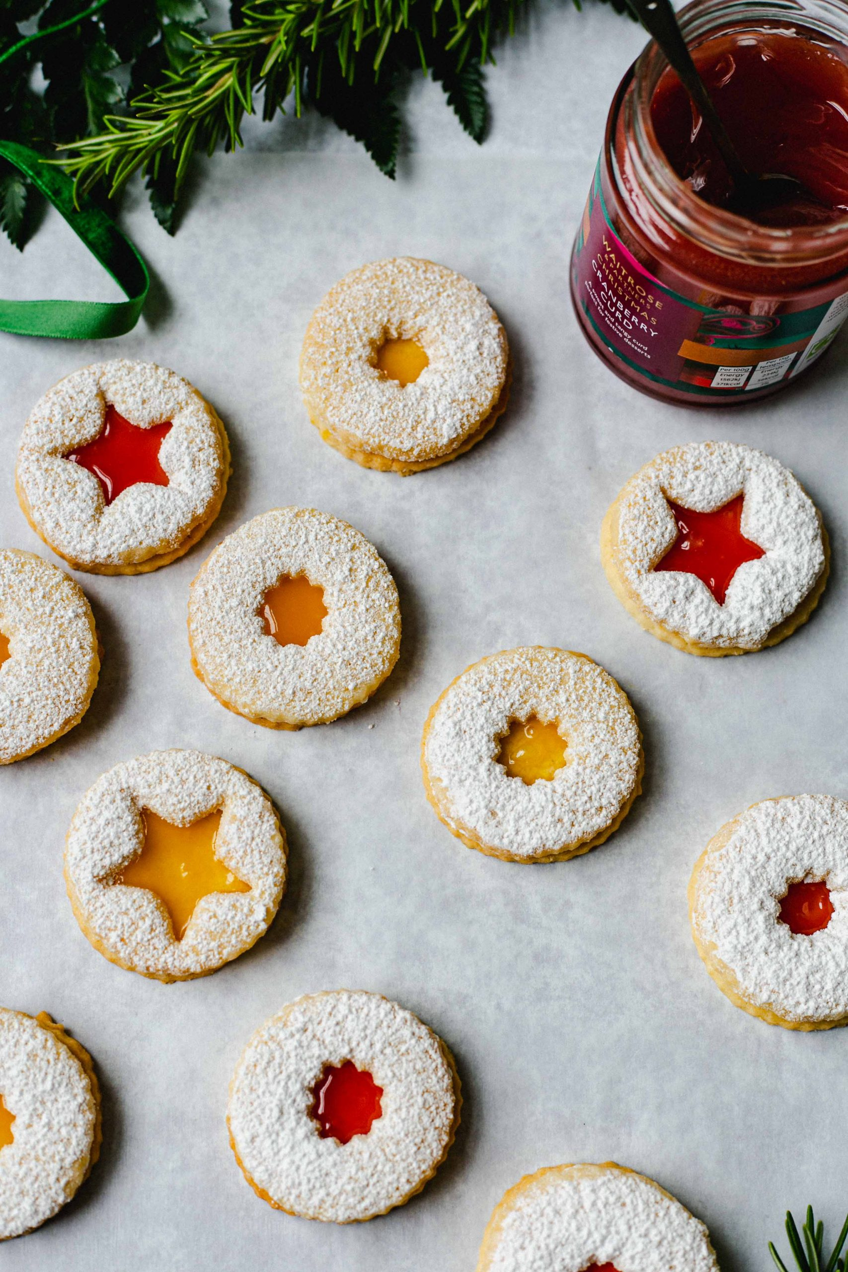 Gluten free Linzer cookies with curd Low FODMAP