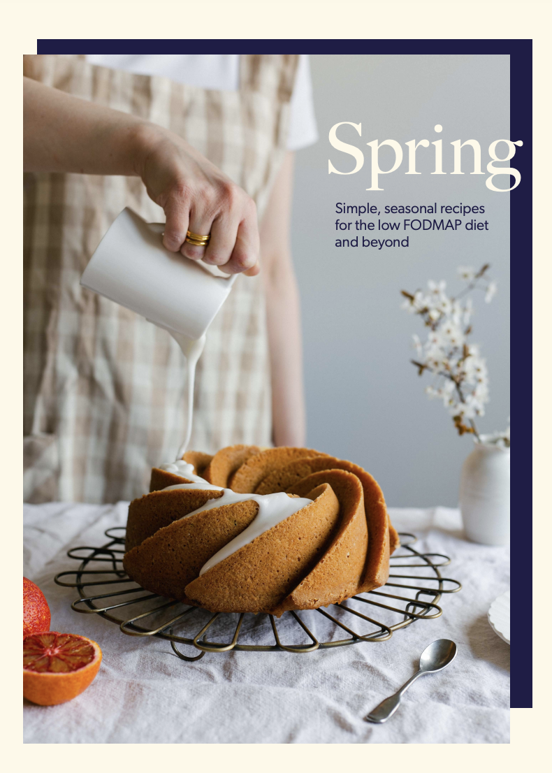 Spring ebook front cover low FODMAP recipes